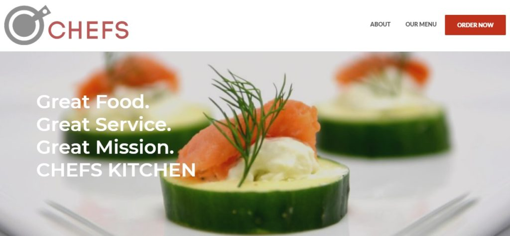 CHEFS website screenshot
